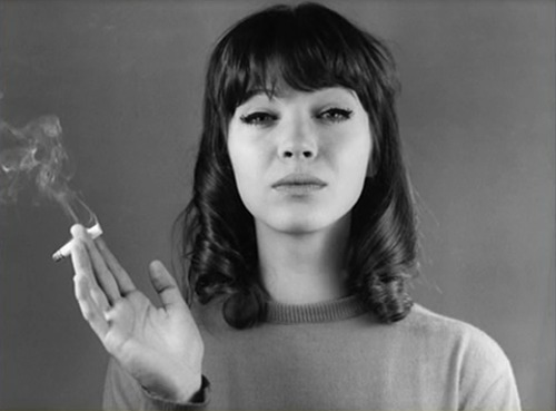 Anna Karina bangs and cigaret