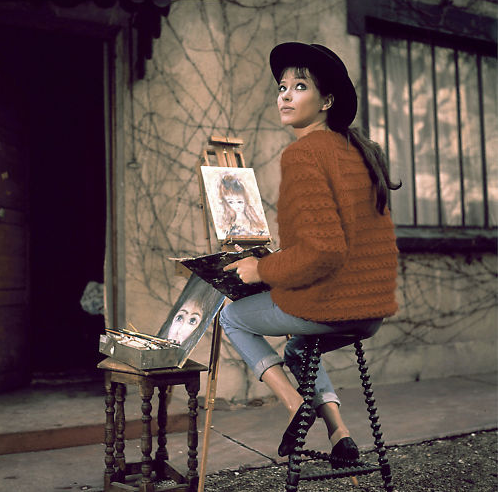 Anna Karina hat and sweater
