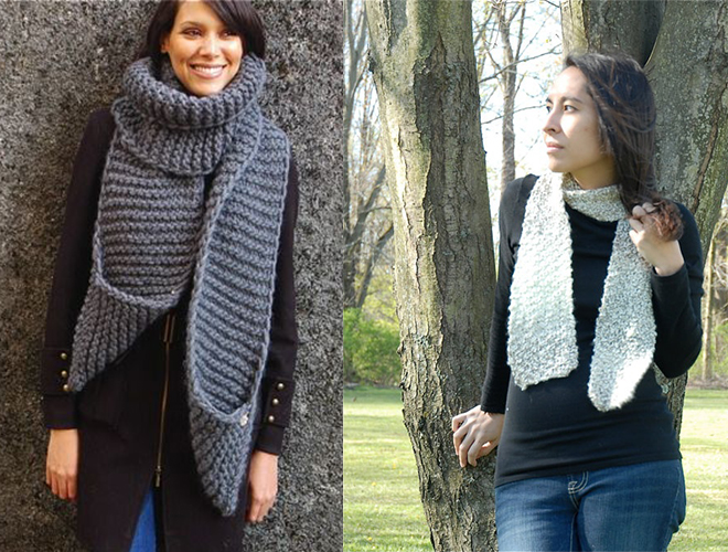 Wide scarf vs thin scarf