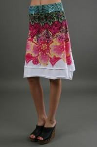 Desigual folded skirt