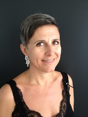Grey hair strass earrings