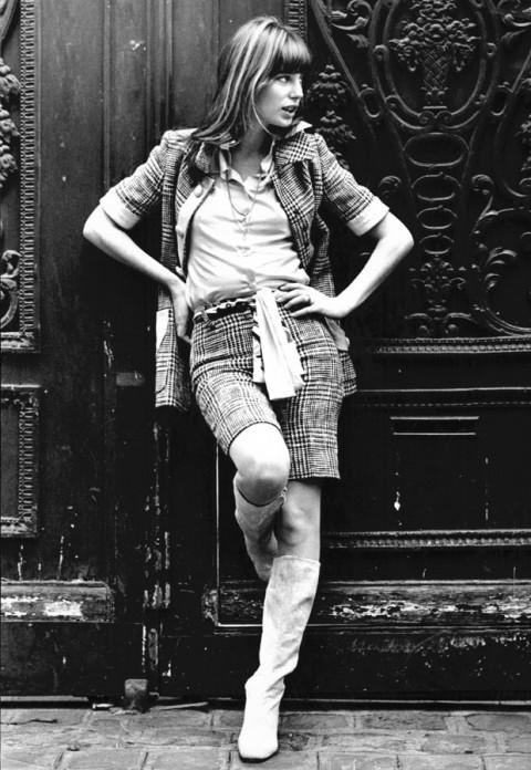Jane Birkin short suit
