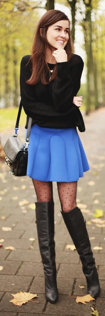 How to Wear Stocking with Skirts