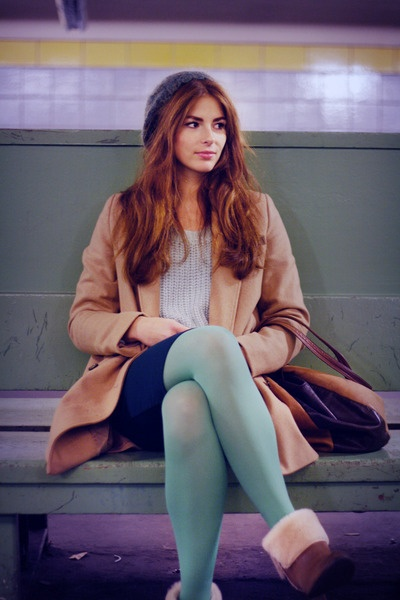 pastel mint tights