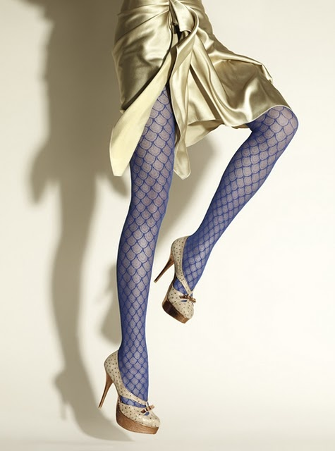 perfect blue pattern tights