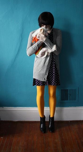 pretty yellow tights