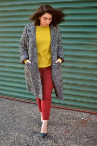 Color mix mustard burgundy forest green grey pattern