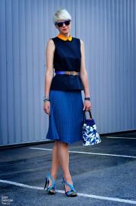 Elisa Nalin blue and orange