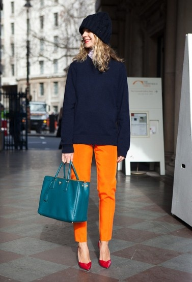 How to match colors together dress like a parisian - Quelle couleur associer a l orange ...
