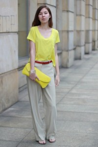 neon yellow beige color mix