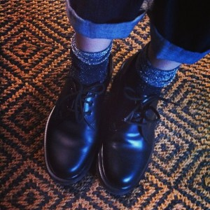doc martens and lurex socks