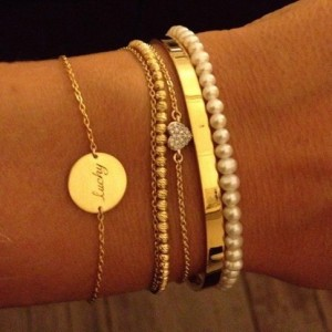 thin bangle layering