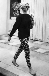 Brigitte Bardot floral pants ballet flats