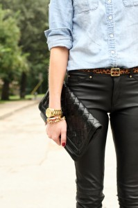 Fashion jackson leopard belt