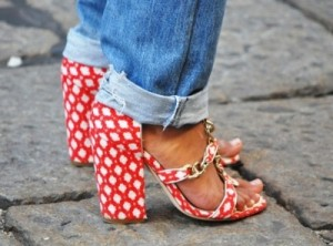 Patterned shoes jeans