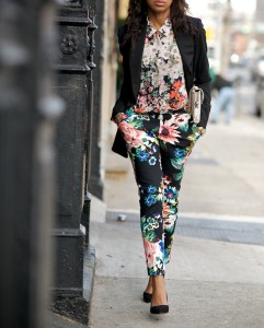 Where did you get that floral print mix color harmony