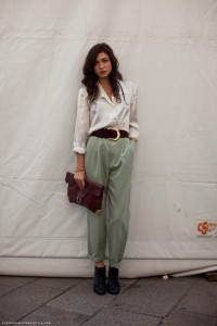 Carolines mode stockholm streetstyle large shirt large belt large pants