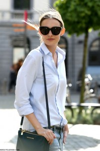 Rolled up sleeves white shirt Polienne
