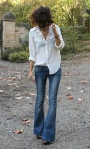chemise blanche half tuck