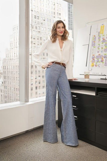 2bf1eb8020fa high waisted pants thin belt larger shirt. Sylvana Ward Durett. This great  outfit would look ...