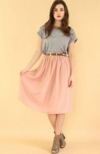 large shirt large skirt thin belt yo vintage
