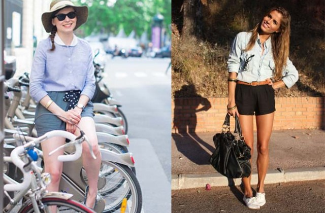 How to wear shorts in summer.