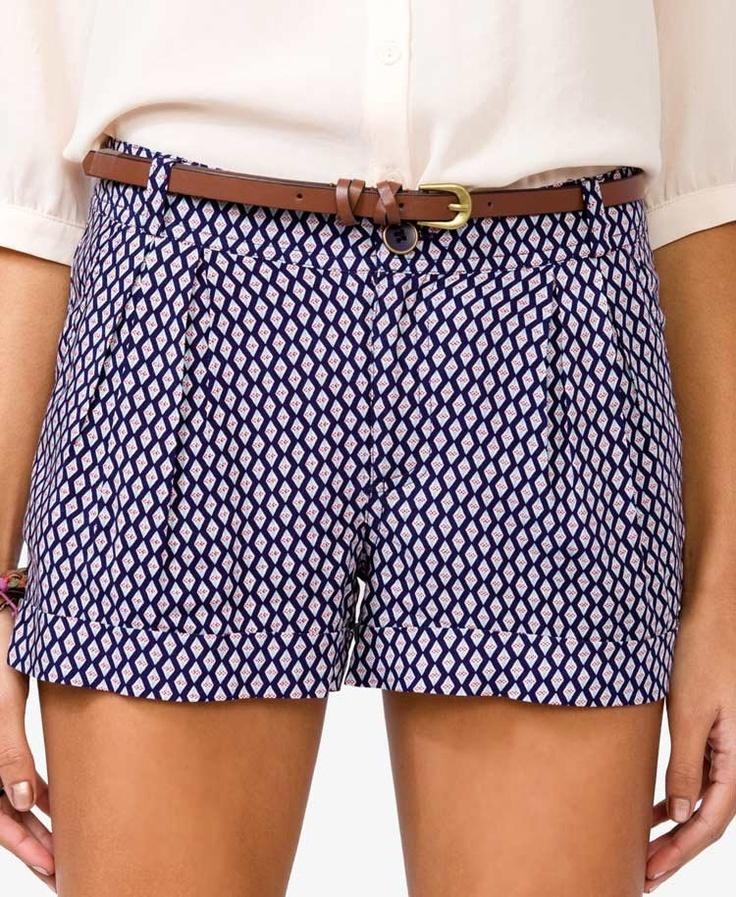 printed short shorts