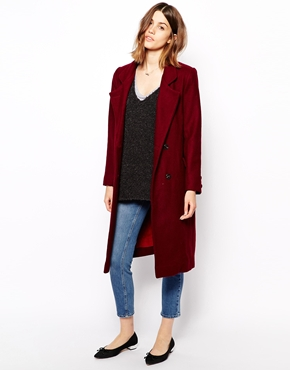 ganni asos tailored bordeaux