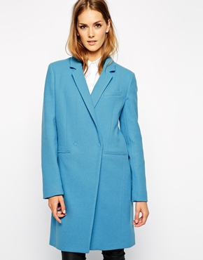 manteau tailored bleu french connexion asos