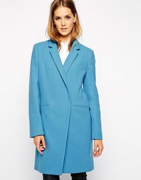manteau tailored bleu french connexion asos