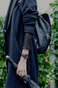 Elsa Ekman se all black look transparency