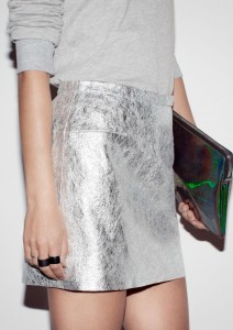 and other stories metallic skirt