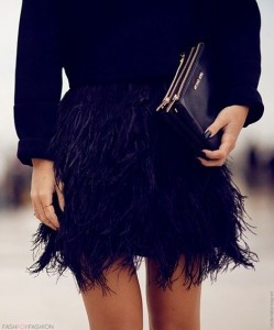 black feather fash for fashion