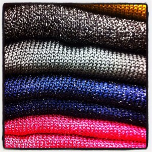 lurex knitwear