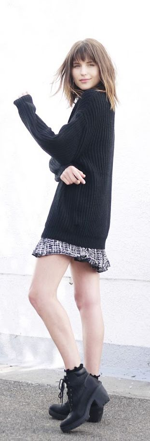 Oversize sweater mini skirt Rima vaidila found on just the design