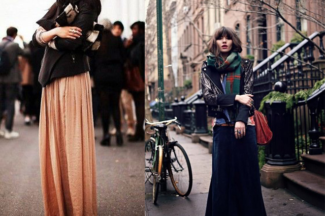 How To Wear A Skirt In The Winter 41