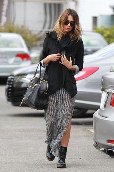 Jessica alba long skirt