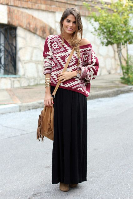 Long skirt winter 8