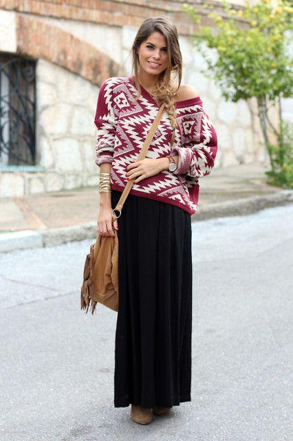 Long skirt winter 8