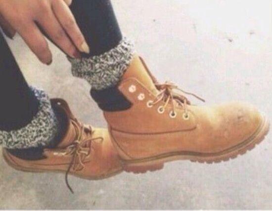 Timberland boots chunky socks