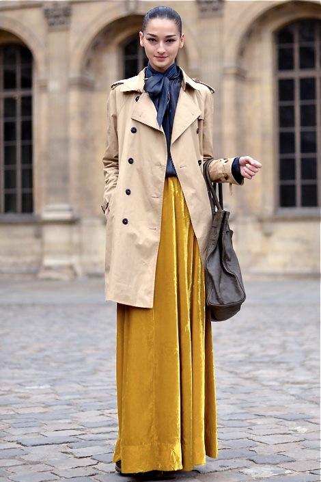 Comment porter la jupe longue en hiver? Personal Shopper