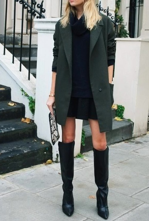 refined style knee high boots