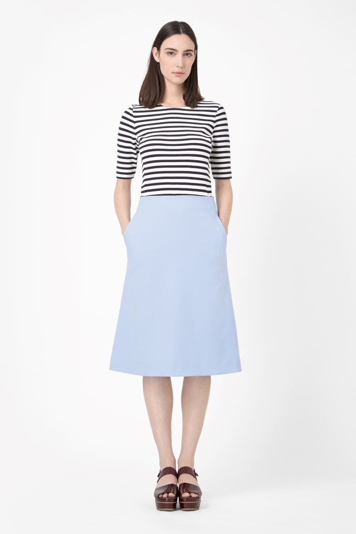 What shoes with my A-line midi skirt?