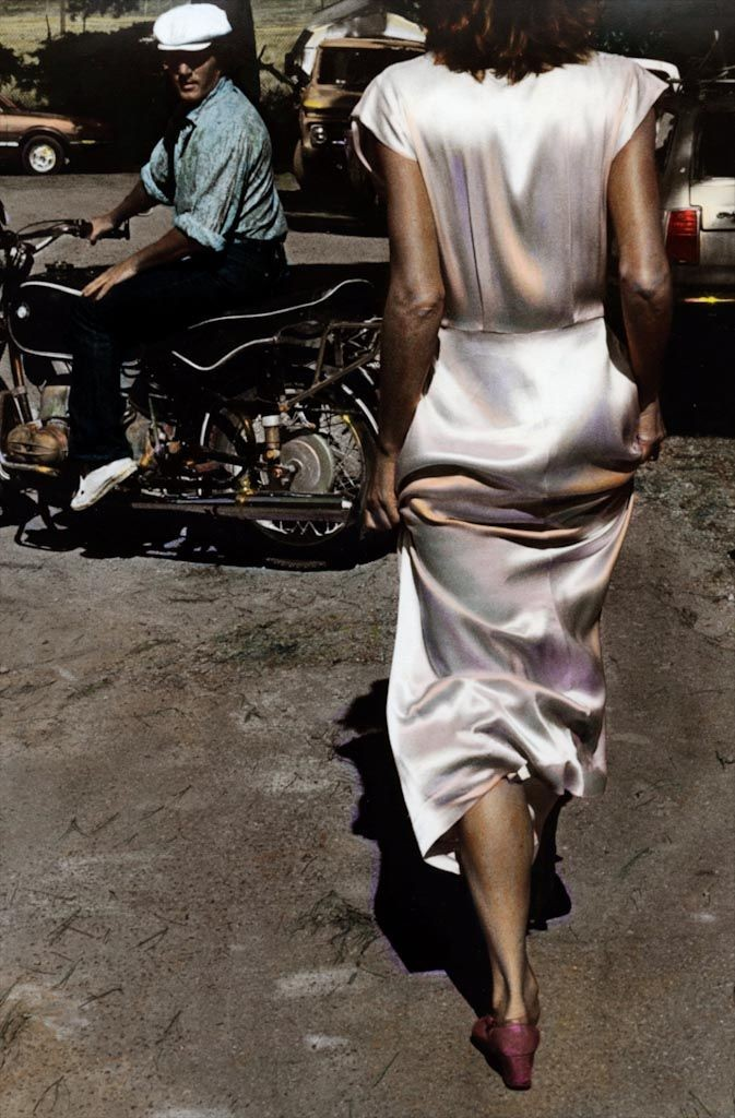 ann rhoney, silk dress coming 1982
