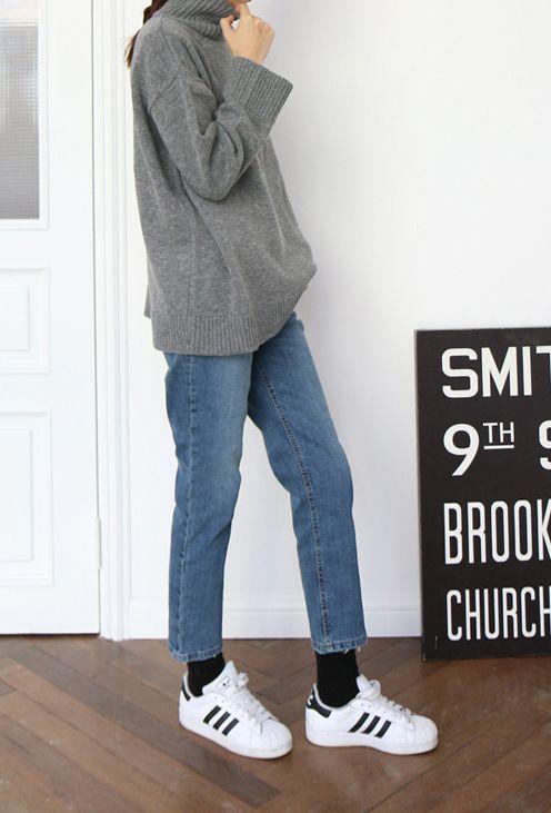 black socks mum jeans