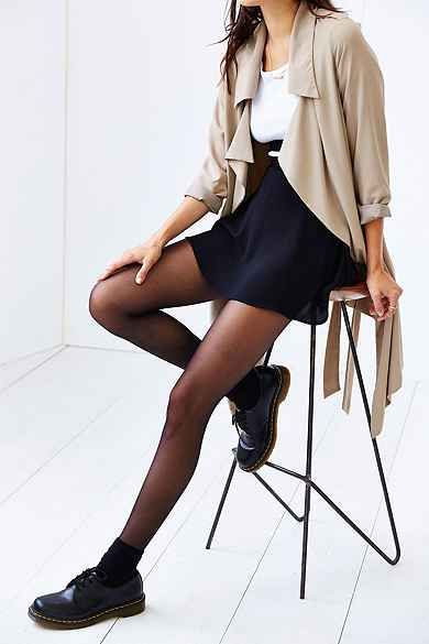 black socks sheer tights urban outfitters