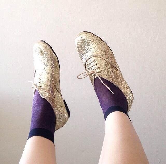 golden ponies sheer socks