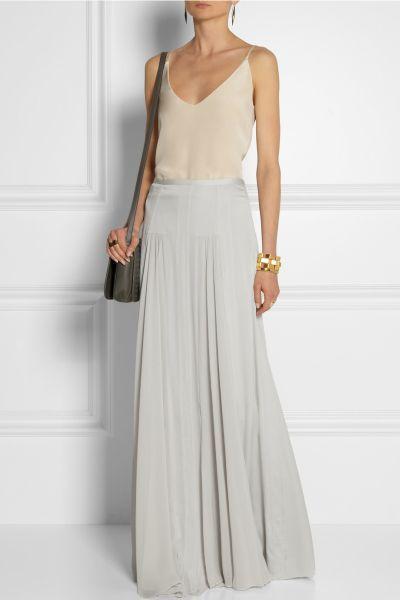 Tareza silk blend maxi skirt net à porter