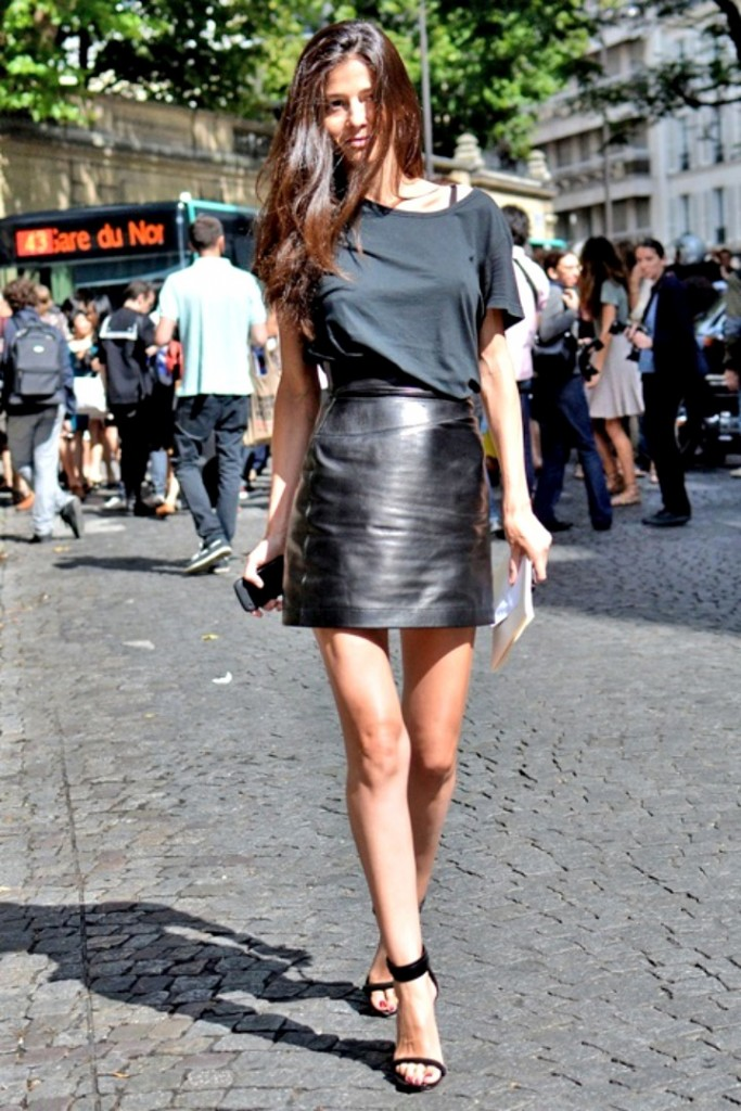 a line leather mini skirt 2