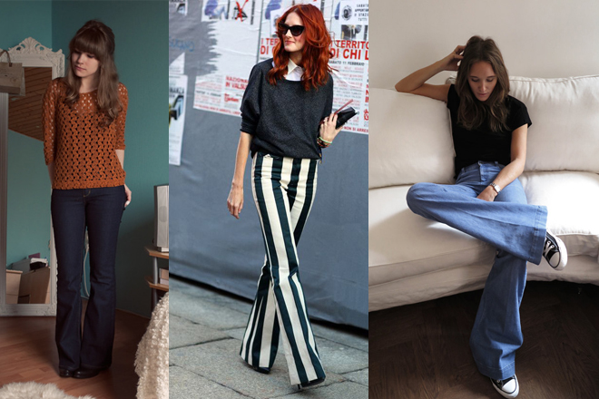 How to wear flare trousers?